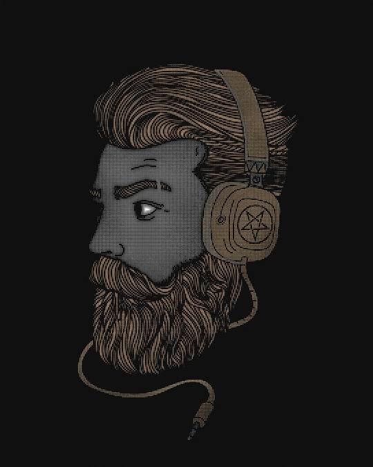 Shop Beard Bro Basic Round Hem T-Shirt
