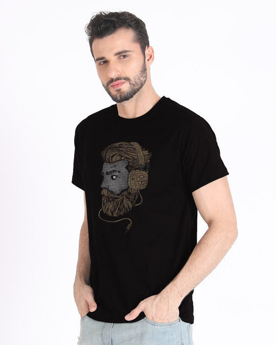 Shop Beard Bro Half Sleeve T-Shirt-Full