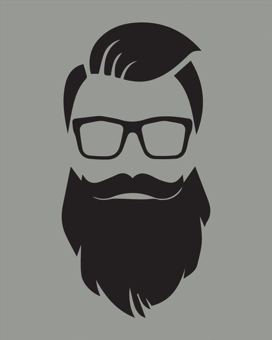 Shop Beard Man Half Sleeve T-Shirt