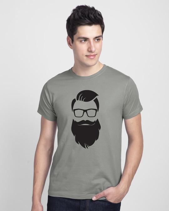 Shop Beard Man Half Sleeve T-Shirt-Front