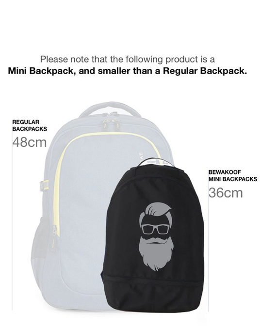 Shop Beard Man Small Backpack-Back