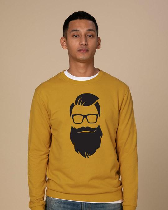 Shop Beard Man Sweatshirt-Front