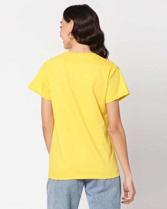 Shop Bearly Awake Boyfriend T-Shirts Empire Yellow