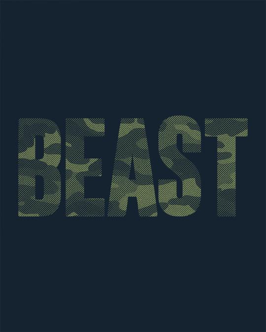 Shop Beast Camouflage Half Sleeve T-Shirt