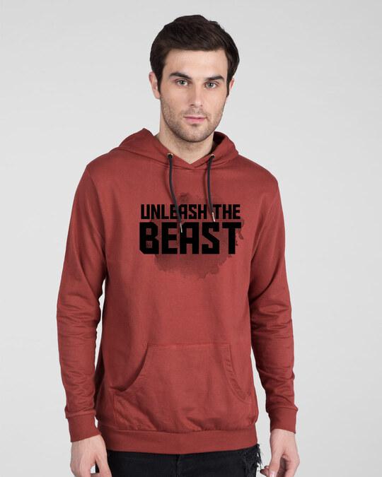 Shop Beast Is Unleashed Fleece Hoodie-Front