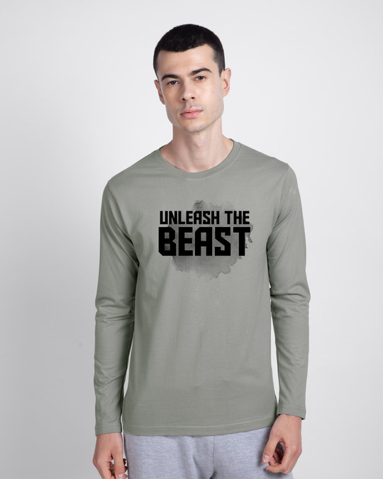Shop Beast Is Unleashed Full Sleeve T-Shirt-Front