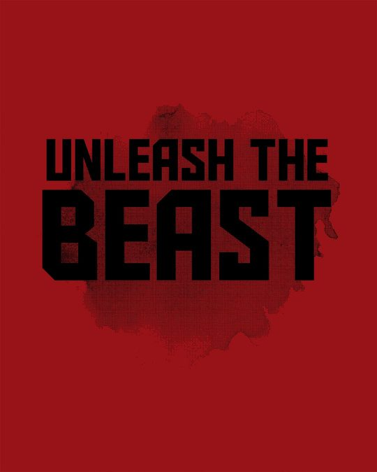 Shop Beast Is Unleashed Half Sleeve T-Shirt