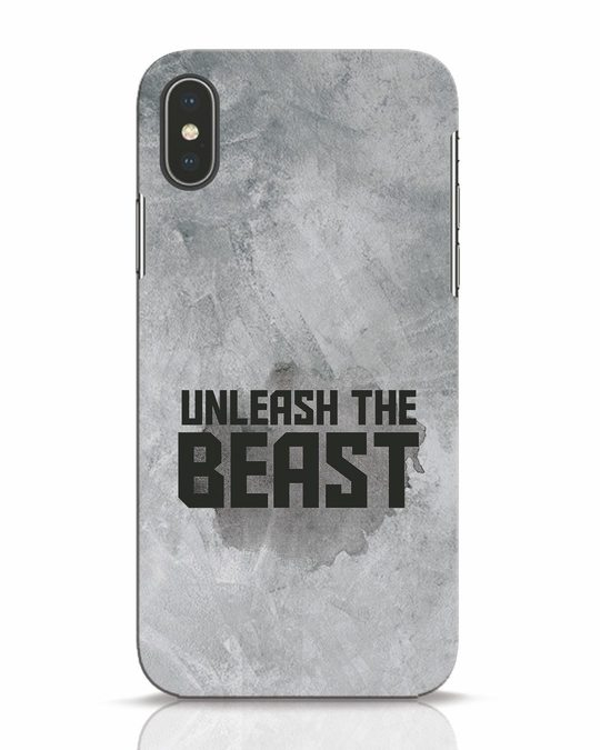 Shop Beast Is Unleashed iPhone X Mobile Cover-Front