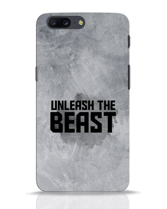 Shop Beast Is Unleashed OnePlus 5 Mobile Cover-Front