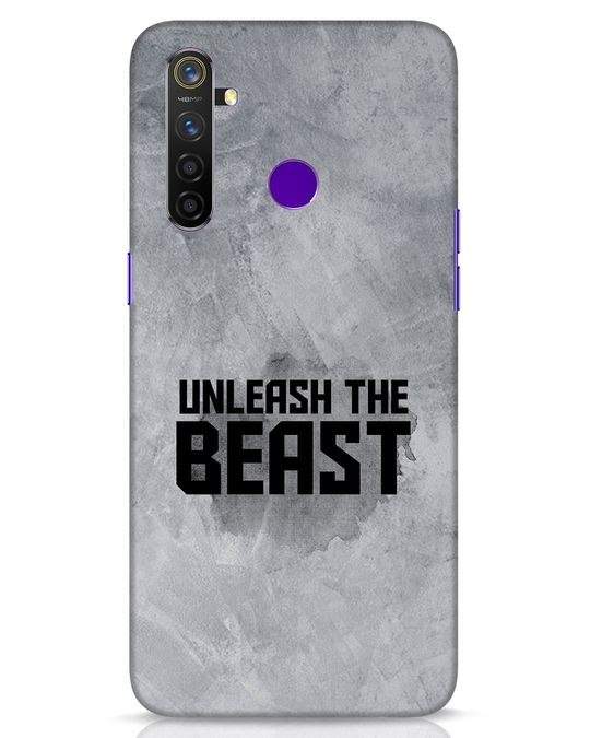 Shop Beast Is Unleashed Realme 5 Pro Mobile Cover-Front