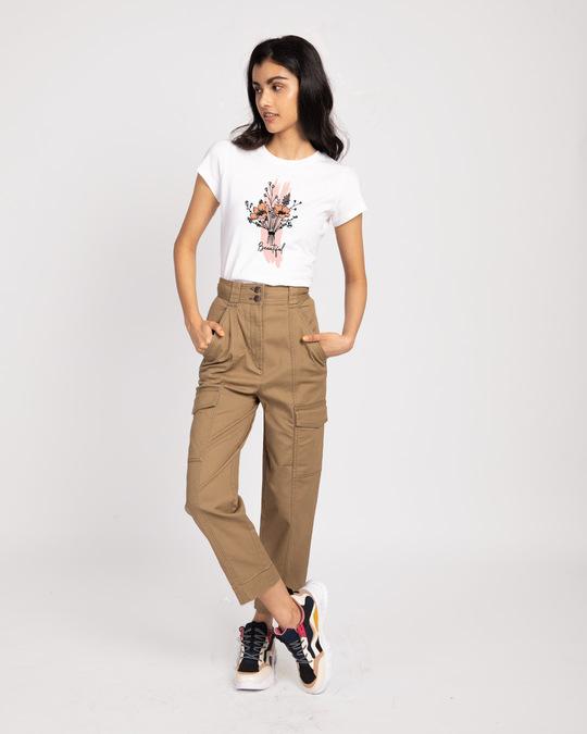 Shop Beautiful Flowers Half Sleeve T-Shirt-Design