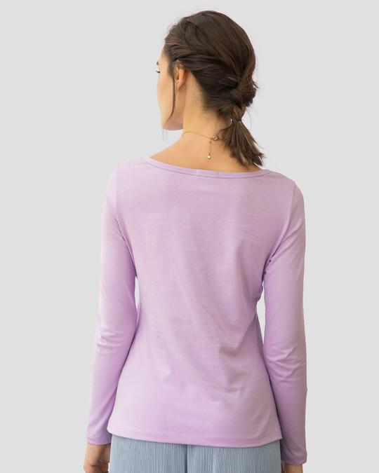 Shop Beautiful Flowers Scoop Neck Full Sleeve T-Shirt-Back