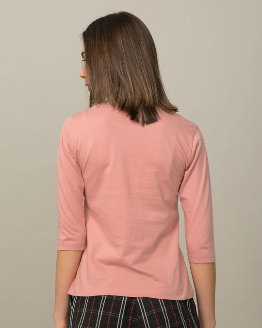 Shop Bee Happy Round Neck 3/4th Sleeve T-Shirt-Back