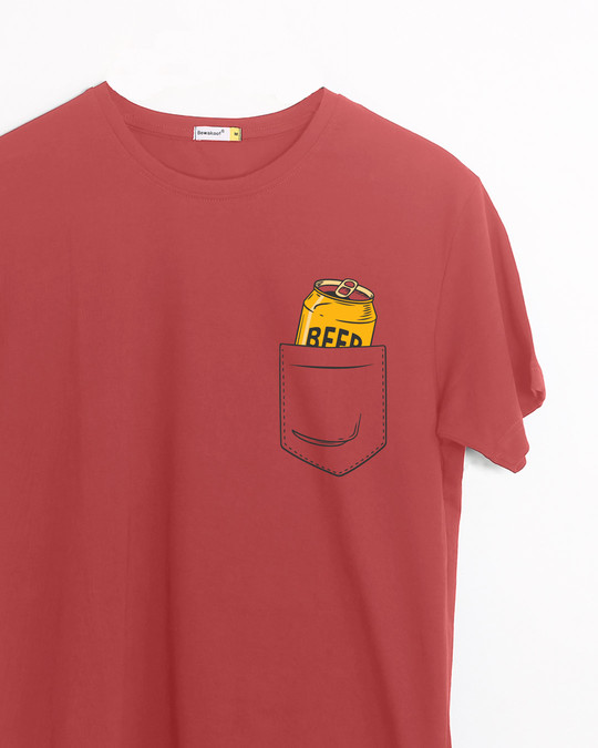 Shop Beer In My Pocket Half Sleeve T-Shirt-Front