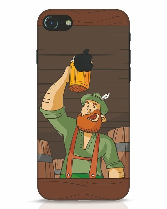 Shop Beer It On iPhone 7 Logo Cut Mobile Cover-Front