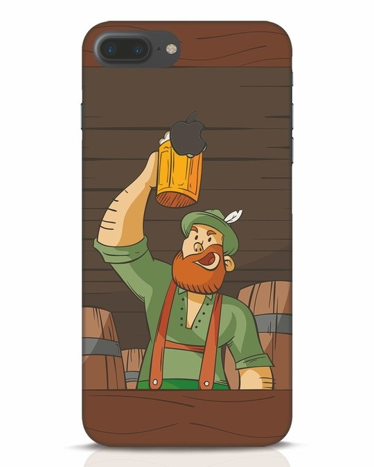 Shop Beer It On iPhone 7 Plus Logo Cut Mobile Cover-Front