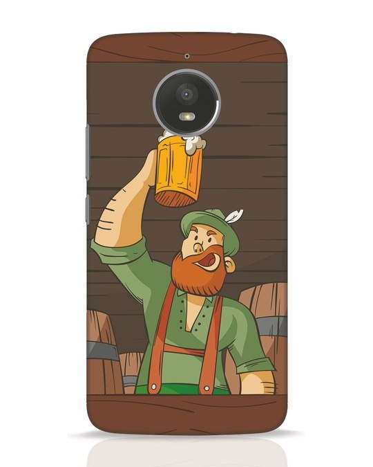 Shop Beer It On Moto E4 Plus Mobile Cover-Front