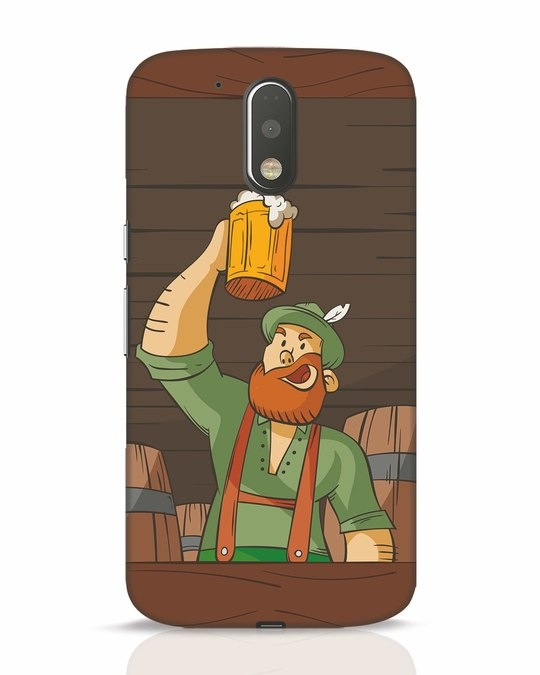Shop Beer It On Moto G4 Plus Mobile Cover-Front