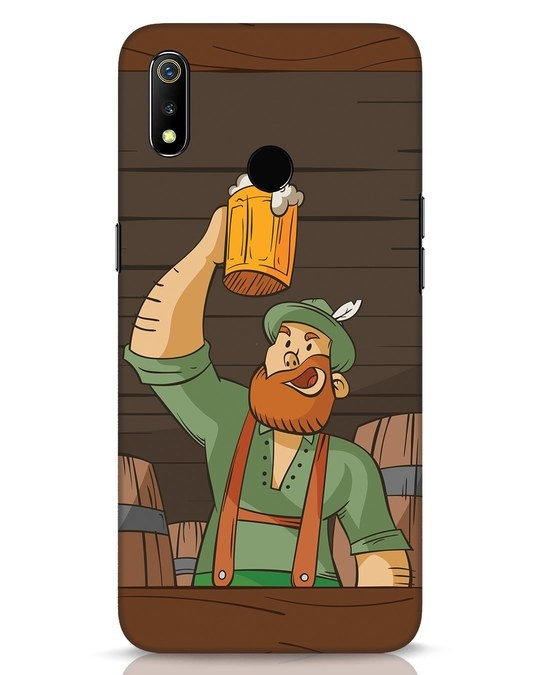 Shop Beer It On Realme 3 Mobile Cover-Front