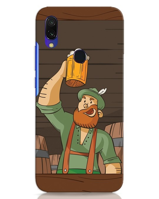 Shop Beer It On Xiaomi Redmi 7 Mobile Cover-Front
