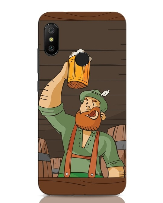 Shop Beer It On Xiaomi Redmi Note 6 Pro Mobile Cover-Front