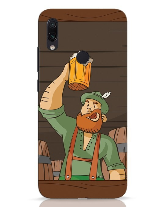 Shop Beer It On Xiaomi Redmi Note 7 Pro Mobile Cover-Front