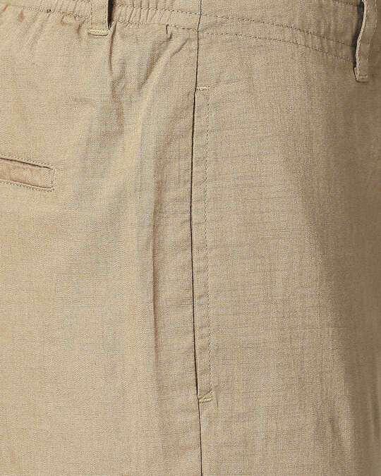 Shop Desert Beige Cotton Jogger Pants