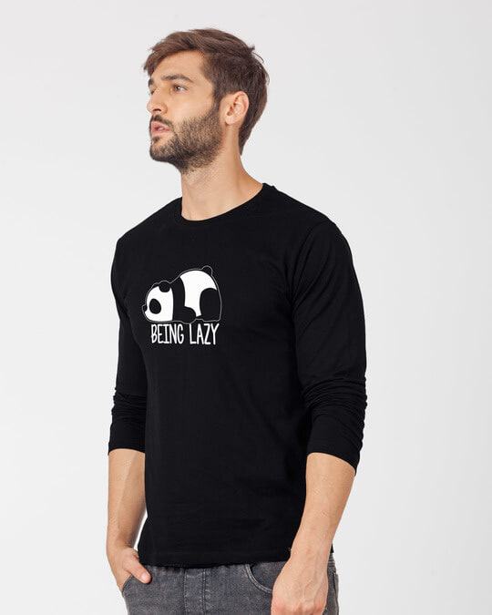 Shop Being Lazy Full Sleeve T-Shirt-Back