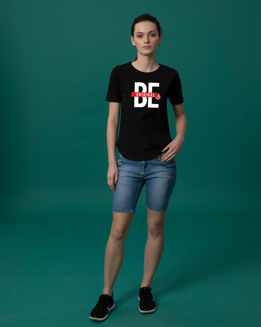 Shop Being Original Basic Round Hem T-Shirt-Full