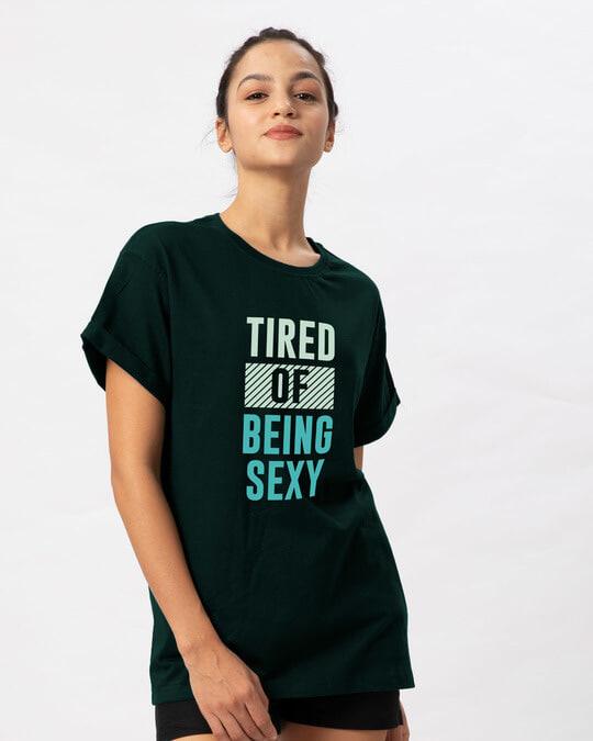 Shop Being Sexy Boyfriend T-Shirt-Back