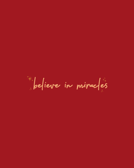 Shop Believe In Miracles Half Sleeve T-Shirt Bold Red