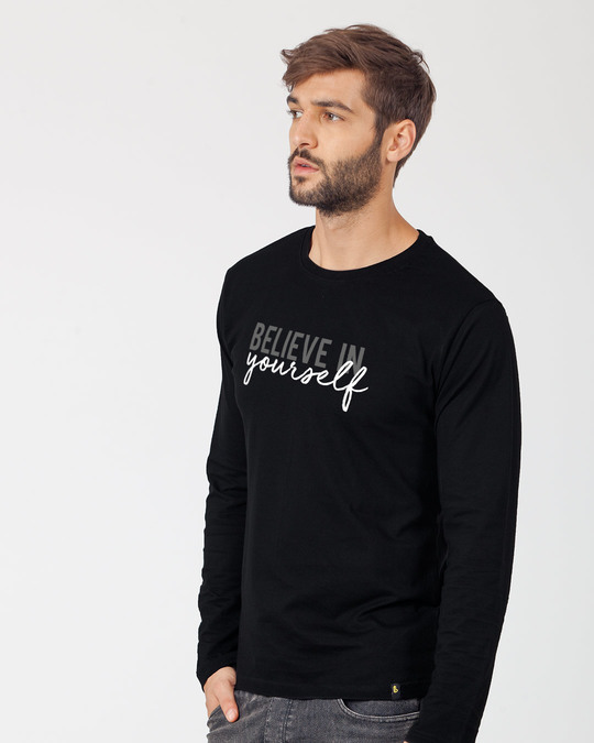 Shop Believe In You Full Sleeve T-Shirt-Back