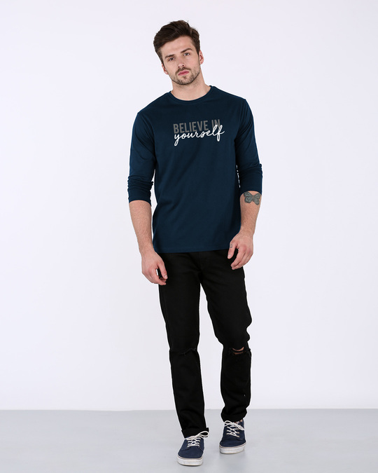 Shop Believe In You Full Sleeve T-Shirt