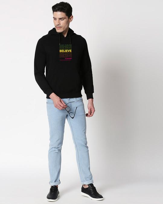 Shop Believe In Yourself Hoodie Sweatshirt Black-Design