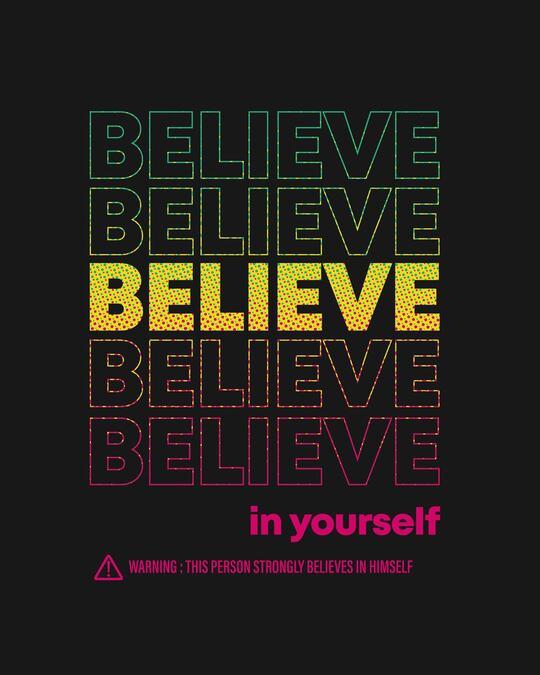 Shop Believe In Yourself Hoodie Sweatshirt Black-Full