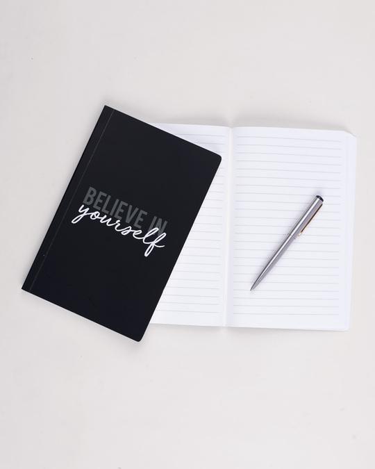 Shop Believe In Yourself Minimal Notebook-Back