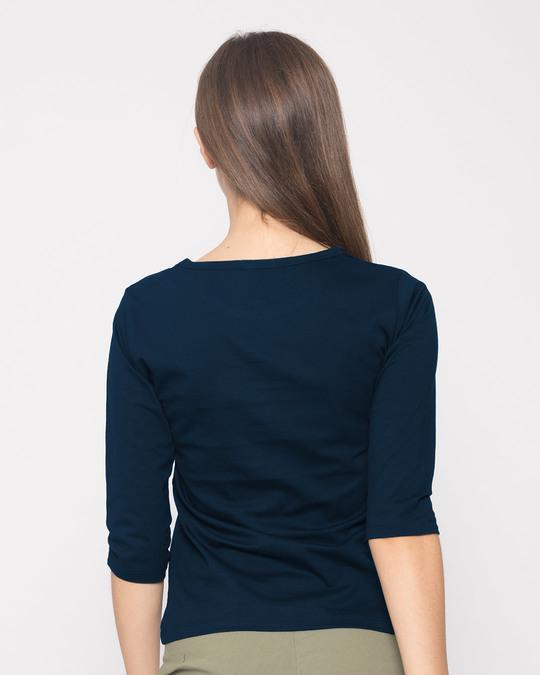Shop Believe Sticker Round Neck 3/4th Sleeve T-Shirt-Back