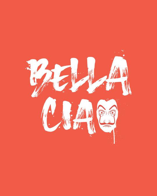 Shop Bella Spray Full Sleeve T-Shirt Smoke Red