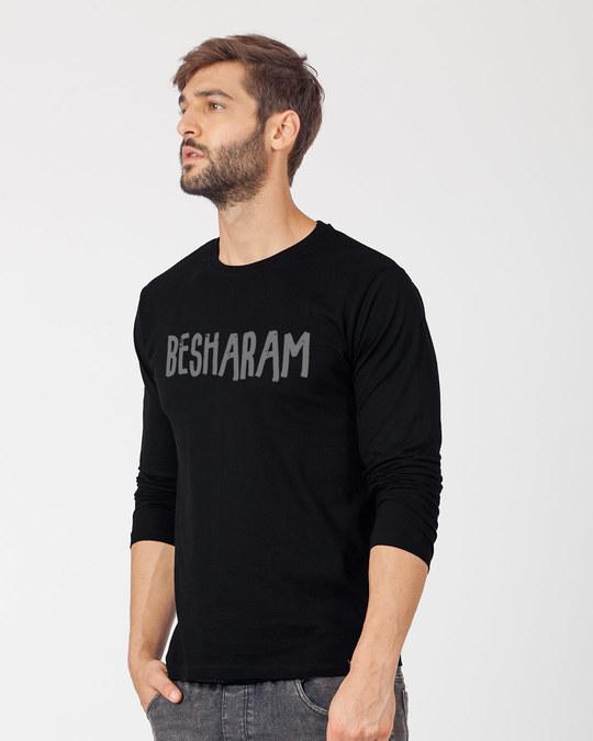 Shop Besharam Full Sleeve T-Shirt-Back
