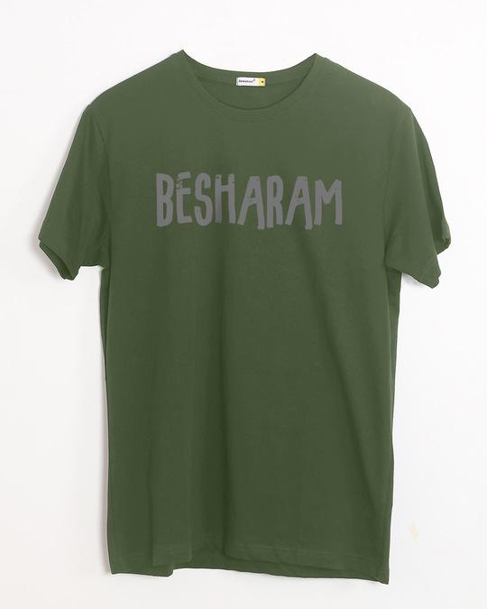 Shop Besharam Half Sleeve T-Shirt-Front