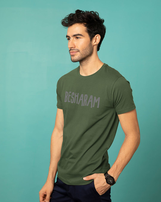 Shop Besharam Half Sleeve T-Shirt-Design