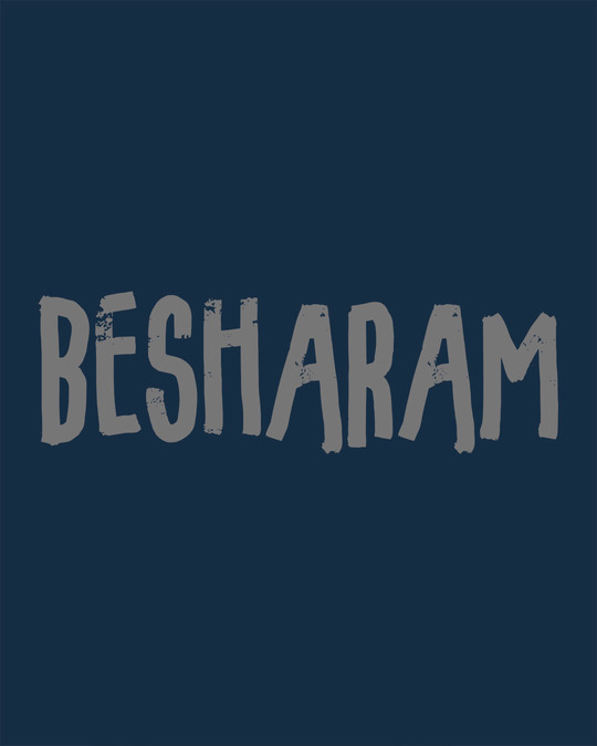 Shop Besharam Round Neck 3/4th Sleeve T-Shirt