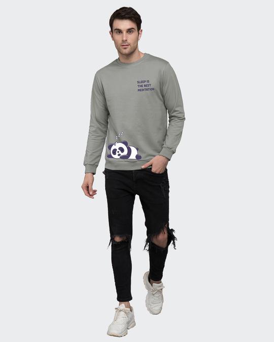 Shop Best Motivation Fleece Sweater Meteor Grey-Design