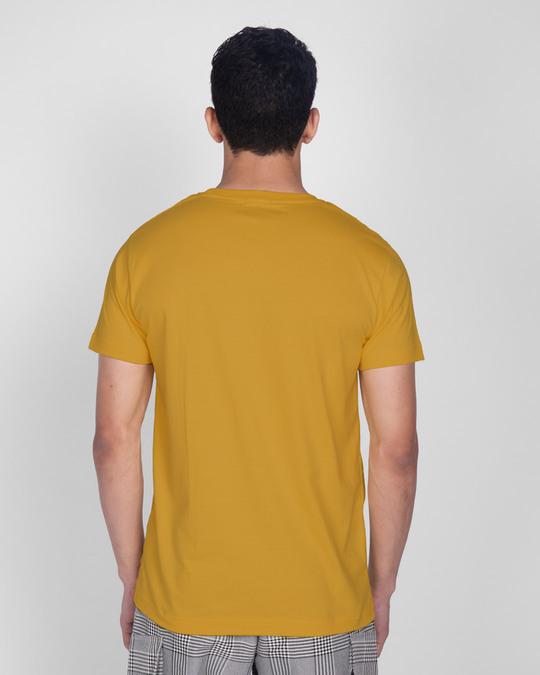 Shop Best Motivation Half Sleeve T-Shirt Mustard Yellow -Design