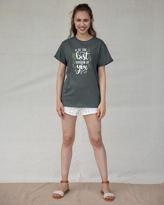Shop Best Version Of You Boyfriend T-Shirt-Design