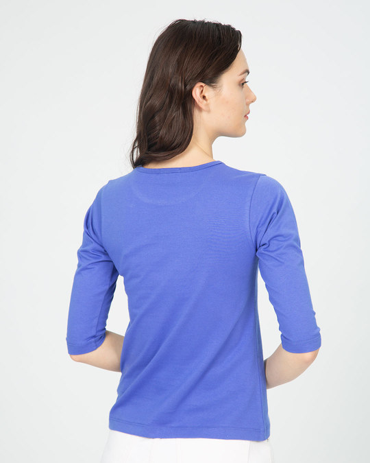 Shop Best Version Of You Round Neck 3/4th Sleeve T-Shirt-Back