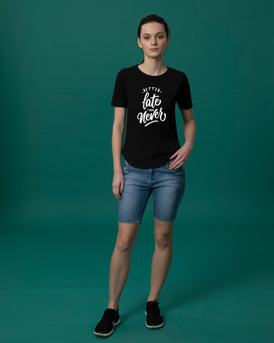 Shop Better Late Basic Round Hem T-Shirt