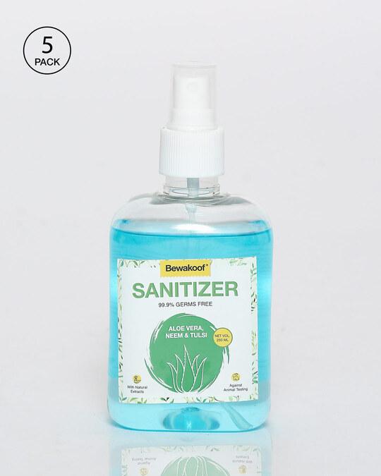 Shop Bewakoof Aloe Vera,Neem & Tulsi Hand Sanitizer (250 ml) Pack of 5-Front