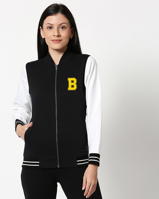 Shop Badge Varsity Bomber Jacket-Front