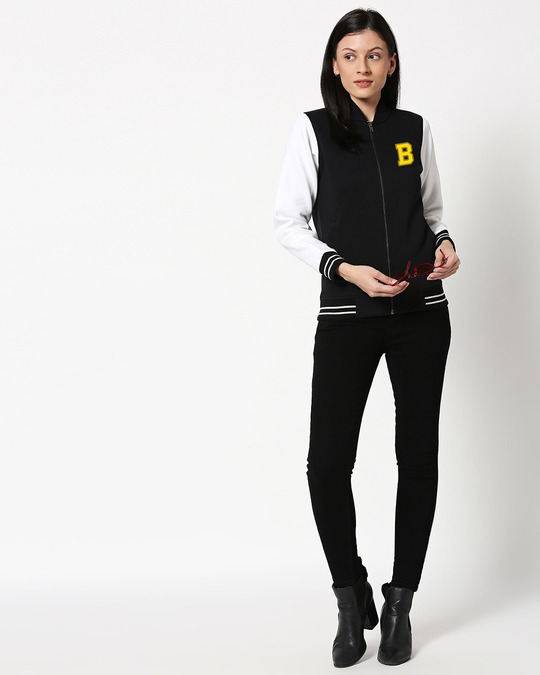 Shop Badge Varsity Bomber Jacket-Full